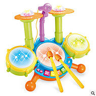 Muzikaal speelgoed Ontspannende hobby's Drumstel Kunststof Wit Voor jongens Voor meisjes 5 tot 7 jaar 8 tot 13 jaar