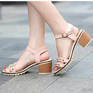 Women's Shoes Heel Heels / Peep Toe Sandals / Heels Outdoor / Dress / Casual Black / Blue / Pink / White
