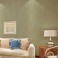 PALUTON Stripe Wallpaper Contemporary Wall Covering , Non-woven Paper Plain Solid Color Imitation Straw Paved