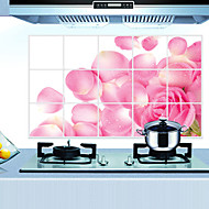 odnímatelný kuchyň oilproof nástěnných samolepky s Růží déšť styl voděodolný Home Art obtisky