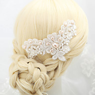 Women's / Flower Girl's Alloy / Imitation Pearl Headpiece-Wedding / Special Occasion Hair Combs 1 Piece White Round