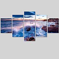 Landscape / Moderni Canvas Tulosta 5 paneeli Valmis Hang , Horizontal