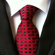 New Red Black plaid Classic Formal Men's Tie Necktie Wedding Party Gift TIE0056