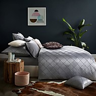 luxury bedding set queen king size bedclothes silver gray color