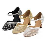 Sapatos de Dança ( Preto / Prateado / Dourado ) - Feminino - Personalizável - Latina / Moderna / Salsa / Samba