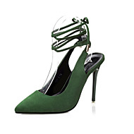 Women's Shoes Velvet Stiletto Heel Heels Heels Casual Black / Green / Gray / Almond / Orange