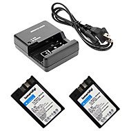 니콘 D60 / D40 / D40X / D500의 EL9에 대한 ismartdigi EL9 디지털 카메라 배터리 × 2 + o.charger