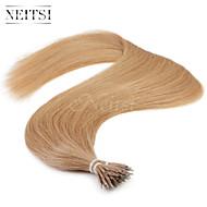 "Neitsi® 20"" 1g/s Nano Ring Loop Straight Hair 100% Human Hair Extensions 27# Include Hair Tools"