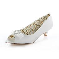סנדלים - נשים - נעלי חתונה - עקבים / נעלים עם פתח קדמי - חתונה / שמלה / מסיבה וערב - שנהב