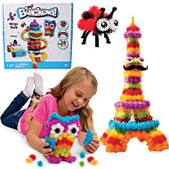 nye bunchems god pakke ny bygning legetøj 370 stykker DIY børnene spille 36 tilbehør kit børn bedste gave