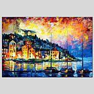 Ručně malované Abstraktní krajinkaModerní / Klasický / Realismus / Pastýřský / evropský styl Jeden panel Plátno Hang-malované olejomalba
