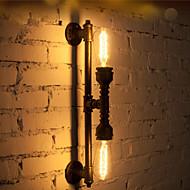 Wroguht Iron Water Pipe Wall Lamp Vintage Aisle Lights Loft Iron Wall Lamp Edison Incandescent Light Bulb-FJ-DB2-046A0