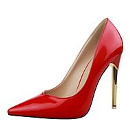 Women's Shoes Stiletto Heel Heels / Pointed Toe / Closed Toe Heels Dress Black / Purple / Red / Silver / Gray / Gold