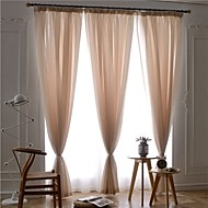 Two Panels European Contracted Fashion Pure Color Sitting Room Bedroom Gauze Shade