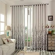 Dvije zavjese Prozor Liječenje Moderna Bedroom Posteljina / pamuk Blend Materijal Zavjese Zavjese Početna Dekoracija For Prozor
