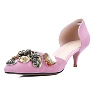 Women's Shoes Suede Stiletto Heel Pointed Toe Heels Office & Career / Party & Evening Pink