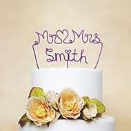 Personalized Iron Wire Wedding Cake Topper