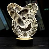 visuele 3D-lint model stemming sfeer geleid decoratie usb tafellamp gift nacht kleurrijke licht (assorti kleur)