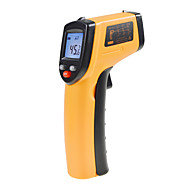 Érintés IR lézer Infravörös digitális hőmérő LCD digitális infravörös hőmérő szondán Laser Point Hőmérséklet GM320