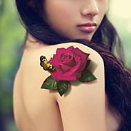 květiny a motýli vodotěsný květinové paže dočasná tetování samolepky netoxický třpytky