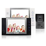 "tmax® 8 ""lcd video kaputelefon sd kártya felvétel 600tvl hd kamera ir (1camera hogy 2monitors)"