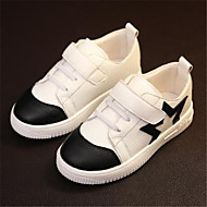 Girls' Shoes Outdoor / Casual Pointed Toe Faux Leather Fashion Sneakers White
