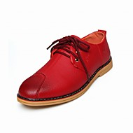 Men's Shoes Wedding / Office & Career / Party & Evening / Athletic / Casual Leather Oxfords Black / Red