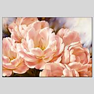 Pintados à mão Floral/BotânicoModerno / Clássico / Tradicional / Estilo Europeu 1 Painel Tela Pintura a Óleo For Decoração para casa