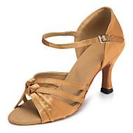 Customizable Women's Latin Ballroom Dance Shoes Salsa / Samba Satin Shoes Black / Blue / Yellow / Green / Purple