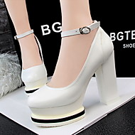 Women's Shoes AmiGirl 2016 New Style Hot Sale Chunky Heels Wedding/Party/Dress Black/White