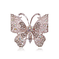 Alloy/Silver Plated/Rhinestone Brooch/Fashion Atmosphere Hollow Butterfly Brooch/Wedding/Party/Daily 1PC