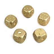 prachtige aluminium legering dobbelstenen gouden zilver