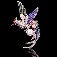 Women's Crystal Fung-hwang  Phoenix Animal Brooch for Wedding Party Decoration Scarf ,Fine Jewelry