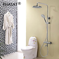 Contemporary Chrome Brass Thermostatic Shower Faucet with  Shower Head