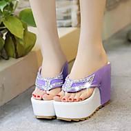 Women's Shoes Synthetic Wedge Heel  Slingback Sandals Dress / Casual Black / Purple