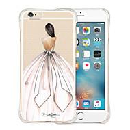 Para Capinha iPhone 5 Antichoque / Transparente / Estampada Capinha Capa Traseira Capinha Mulher Sensual Macia Silicone iPhone SE/5s/5