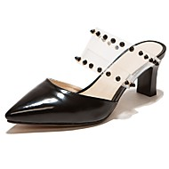Women's Shoes Chunky Heel Heels / Pointed Toe Sandals Party & Evening / Dress / Casual Black / Red / White / Almond