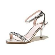 Women's Shoes Stiletto Heels/Sling back/Open Toe Sandals Party & Evening/Dress Pink/Silver/Almond