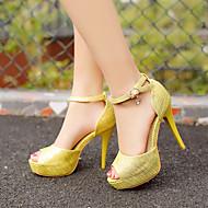Women's Shoes Heel Heels / Peep Toe / Platform Sandals / Heels Party & Evening / Dress / CasualBlack / Pink / A001