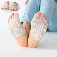 גרביים גרביים למניעת החלקה יוגה נושם / נגד החלקה שחור / קרם