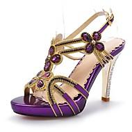 Women's Shoes Stiletto Heel Heels / Peep Toe / Platform Sandals Wedding / Party & Evening / Dress Purple /Silver