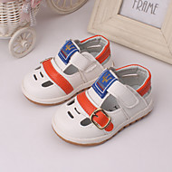 Boys' Flats Spring Summer Light Up Shoes Leather Outdoor Dress Casual White Brown Yellow