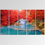 Abstrakti / Fantasy / Leisure / Landscape / Valokuvaus / Patriotismi / Moderni / Romantiikka / Pop Art / Matkailu Canvas Tulosta 5 paneeli