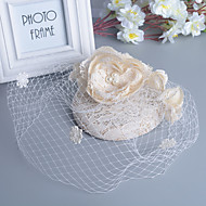 Bride's Lace Flower Veil Wedding Fascinators Hat Hair Jewelry
