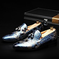 Men's Shoes Amir Limited Edition Pure Manual Night Club/Office Cowhide Leather Loafers Brown/Royal Blue