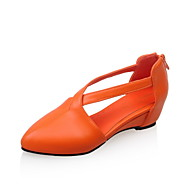 Women's Shoes Patent Leather Wedge Heel Wedges / Comfort / Pointed Toe Sandals Outdoor / Office & Career / DressBlue