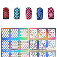 -Finger / Zehe-3D Acrylic Nail Art Molds-PVC-1pcs nail sticker templateStück -7.5*13cmcm