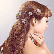 Rhinestone / Alloy Headpiece-Wedding / Special Occasion / Casual / Outdoor Hair Pin (3 Pieces/set)
