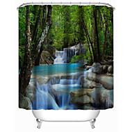 "Modern Brook Polyester Shower Curtains W71""×L71"""