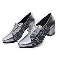 Women's Latin Ballroom Dance Shoes Jazz / Modern / Swing Shoes / Salsa / Samba Chunky Heel Black / Silver / Gray